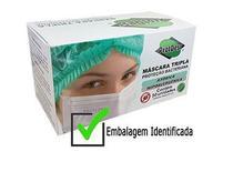 Mascara cirurgica descartavel tripla 50 un com filtro meltblow e anvisa - Protdesc
