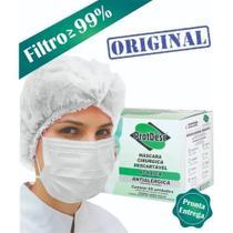 Máscara Cirúrgica Descartável Tripla Caixa com 50 unidades - ProtDesc -