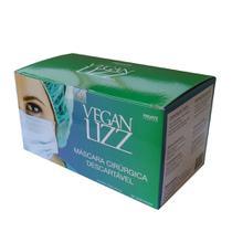 Máscara Cirúrgica Descartável Tripla Camada 50 Unidades Vegan Lizz -