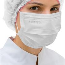Máscara Cirúrgica Descartável Tripla com Elástico PROTDESC Branca 50 unidades -