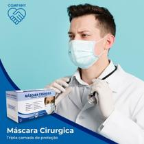 Máscara Cirúrgica Descartável Tripla Elástico Com Anvisa 100 UNIDADES - Medi Company