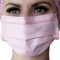 Mascara cirúrgica rosa destak c/ elast cx c/50 un - Destaksul
