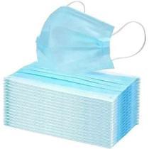 Máscara Cirúrgica Tripla Com Clipe Nasal Azul Caixa 50 Unidades - Sg