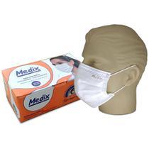 Máscara Cirúrgica Tripla com Elástico Caixa C/50 Un. Medix -