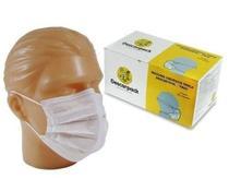 Máscara Cirúrgica Tripla Descartável - Elástico - C/50 - Descarpack -