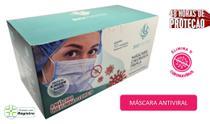 máscara com Antiviral cirúrgica tripla descartável  - bioprotex (50 unidades) -