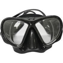 Máscara de Mergulho Black com Lente Dupla e Protetor Nasal - Nautika -
