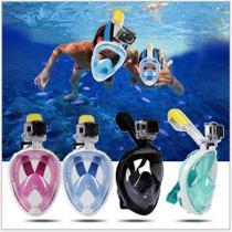 79674c29d Máscara de mergulho Full face de rosto inteiro - Azul claro G GG