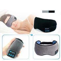 Máscara De Olhos Bluetooth Para Dormir Fones De Ouvido Cinz - Não Informada