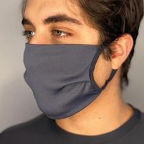 Máscara De Proteção Curtlo Unissex-Kit Com 5 Máscaras Cinza -