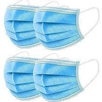 Máscara de Proteção Facial com 3 Camadas Com Clip Nasal C/100 Unidades - Ello