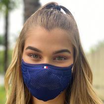 Máscara de proteção feminina 3D AirKnit Azul Itália - Ebeus