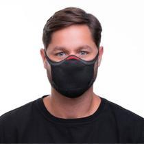 Máscara de Proteção Fiber Reutilizável Tamanho 3 Preto -