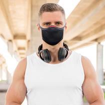 Máscara de Proteção Knit 3D Preta - Fiber GR - Knit Fiber