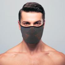 Máscara de proteção masculina 3d air knit grafite com laranja tamanho m - Ebeus
