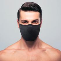 Máscara de proteção Masculina 3D Air Knit Preto com Grafite - Ebeus
