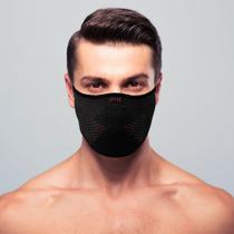Máscara de proteção masculina 3D AirKnit Preta com vermelho - Ebeus