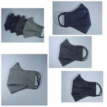 Máscara de Proteção Masculina 3D dupla camada Cinza - 2Xlu/Lucia Secio