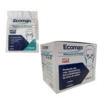 Máscara de proteção N95 PFF-2 C/ 20 unidades Ecomax Registro Anvisa + CA -