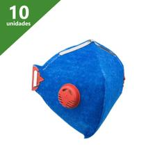 Máscara de proteção pff1 com válvula kit (c/10) - delta plus -