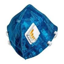 Máscara de Proteção Respiratória Dobrável com Válvula PFF2 3M - 3 M -