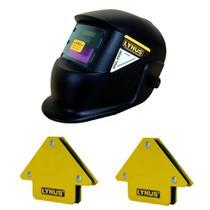 Máscara de Solda Automática MSL3500 + 2 Esquadro Magnético 12kg - Lynus -