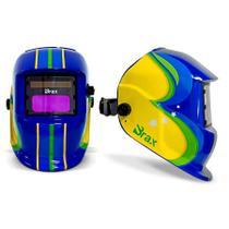 Mascara de Solda Escurecimento Automático modelo Brasil com ajuste de sensibilidade e atraso delay Brax Soldas -
