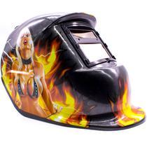 Máscara de Solda Escurecimento Automático Personalizada GT281-C Garota - Lorben -