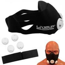 Mascara de Treinamento Respiratorio com Controle de Fluxo de Ar Liveup -