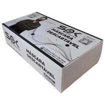 Mascara descartavel tnt preta caixa com 50 unidades - Jsa