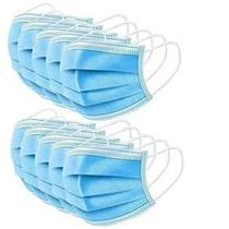 Máscara Descartável Tripla De Proteção Facial Tripla 50 Unidades Azul - Chn