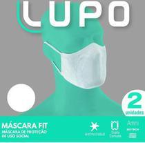 Máscara em tecido lavavel dupla br c/elast.(c/02 und) lupo -