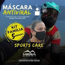 Máscara Esportiva Antiviral - Kit Família - Sports Care - Mega Sport