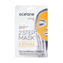 Máscara Facial 2 Etapas Óleo de Amêndoas e Vitamina E 2 Step Mask Océane -