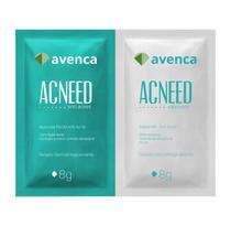 Máscara Facial Antiacne Acneed Avenca Cosméticos Sachê 2X10g -