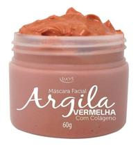 Máscara Facial Argila Vermelha Com Colágeno Vitamina E Lucys -