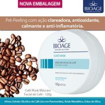 Mascara facial de cafe bioage glicolico e mandelico bioage 120g -