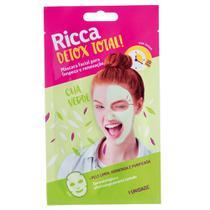 Máscara Facial Detox Total! Limpeza e Renovação Chá Verde 1uni - Ricca -
