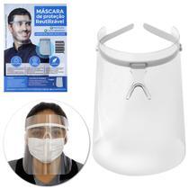 Máscara Facial Protetora Anti-cuspir Respingos Face Shield Viseira Transparente Face Protector - Prime