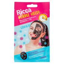 Máscara Facial Ricca Borbulhante Para Detox Da Pele Bubble Help! 28g -