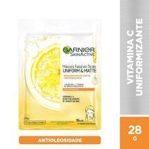 Máscara Facial Vitamina C Garnier Skin Uniform&Matte - 28g -