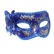 Mascara Fantasia Carnaval kit 6 uni Festa Eventos Baile Azul - Braslu