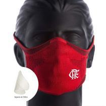 Máscara Flamengo Vermelha Sportsmask + Suporte para Respiração -