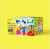 Máscara Infantil - Kit c/100 Máscaras Cirúrgicas Descartável Dupla com Elástico Branca - Cad