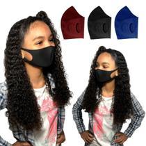 Máscara Infantil Lavável Tecido Neoprene Ninja  Kit 4 Unidades - Facemascaras
