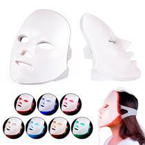 Máscara Led 7 Cores Tratamento Facial Fototerapia Anti Rugas - CB