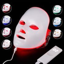 Máscara Led 7 Cores Tratamento Facial Fototerapia - Face