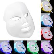 Máscara Led 7 Cores Tratamento Facial Fototerapia Pele Acne - LED MIANMO