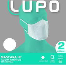 Máscara lupo lavável dupla br c/elastico -