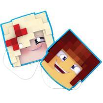 Máscara Personagens Authentic Games 08 unidades Festcolor - Festabox